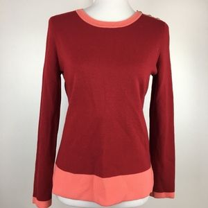 Talbots Merino Wool Sweater with Shoulder Buttons
